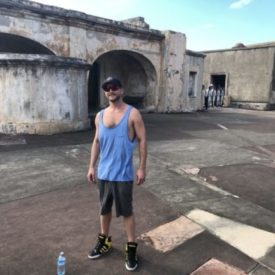 Walking around this really cool fort that was originally used to keep out pirates. How bad ass is that??